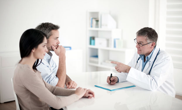 Couple Consulting Obstetrician About Fertility