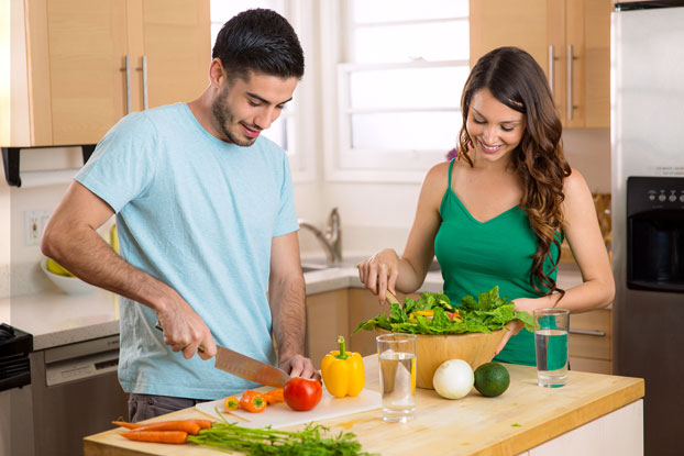 Young Couple Eating Healthy Diet Trying to Get Pregnant